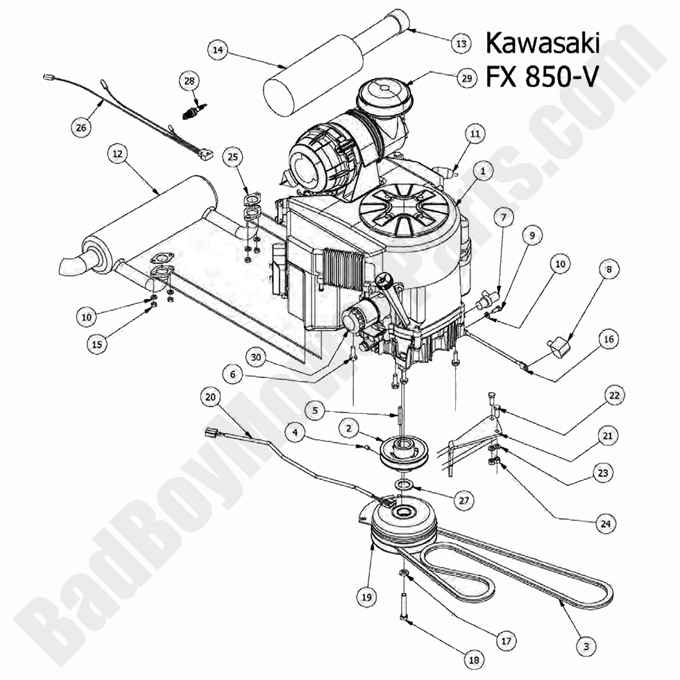 Bad Boy Mower Parts Lookup 2017 Outlaw XP Engine