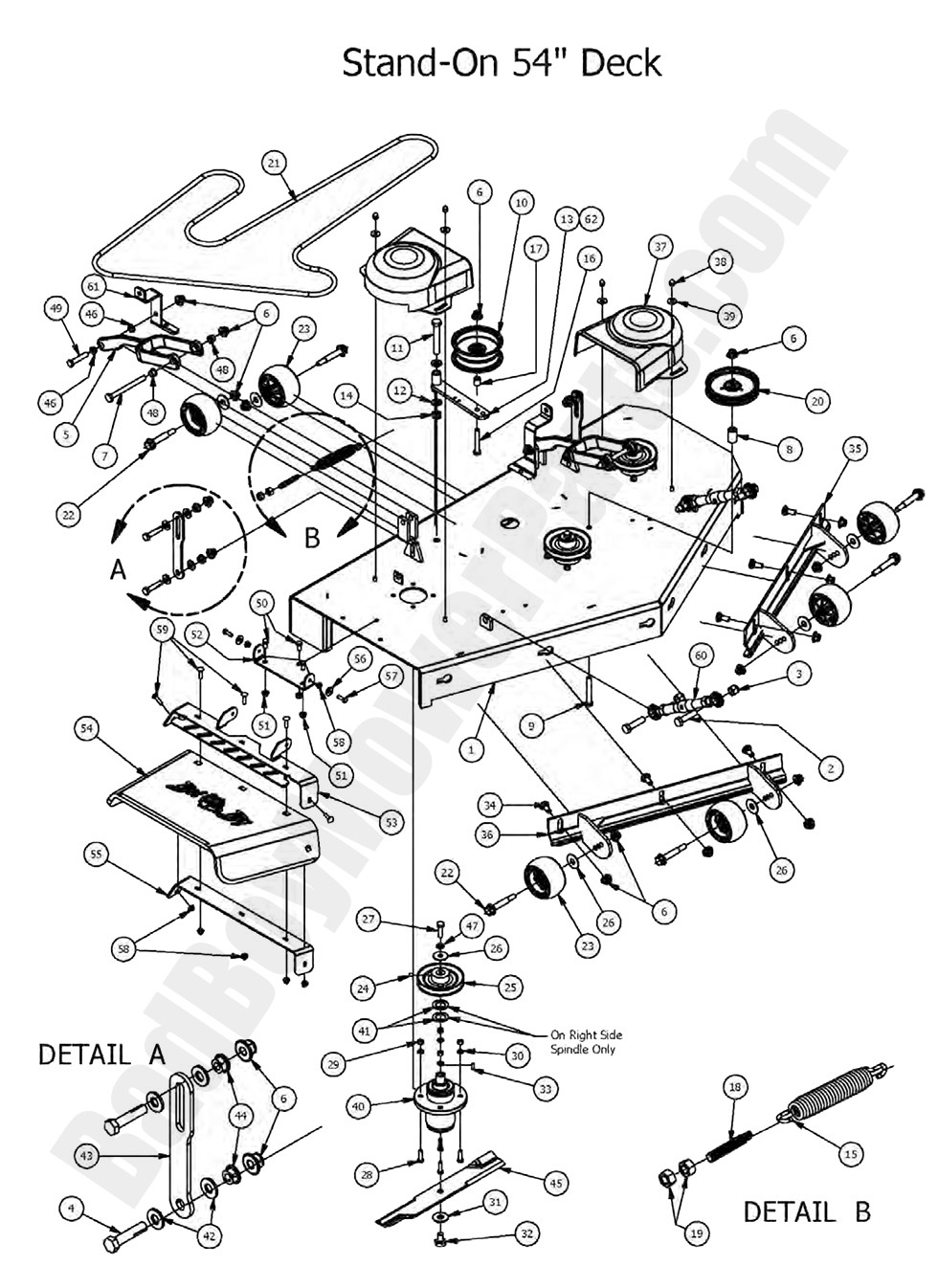 Bad Boy Mower Parts Lookup 2017 Outlaw Stand On 54