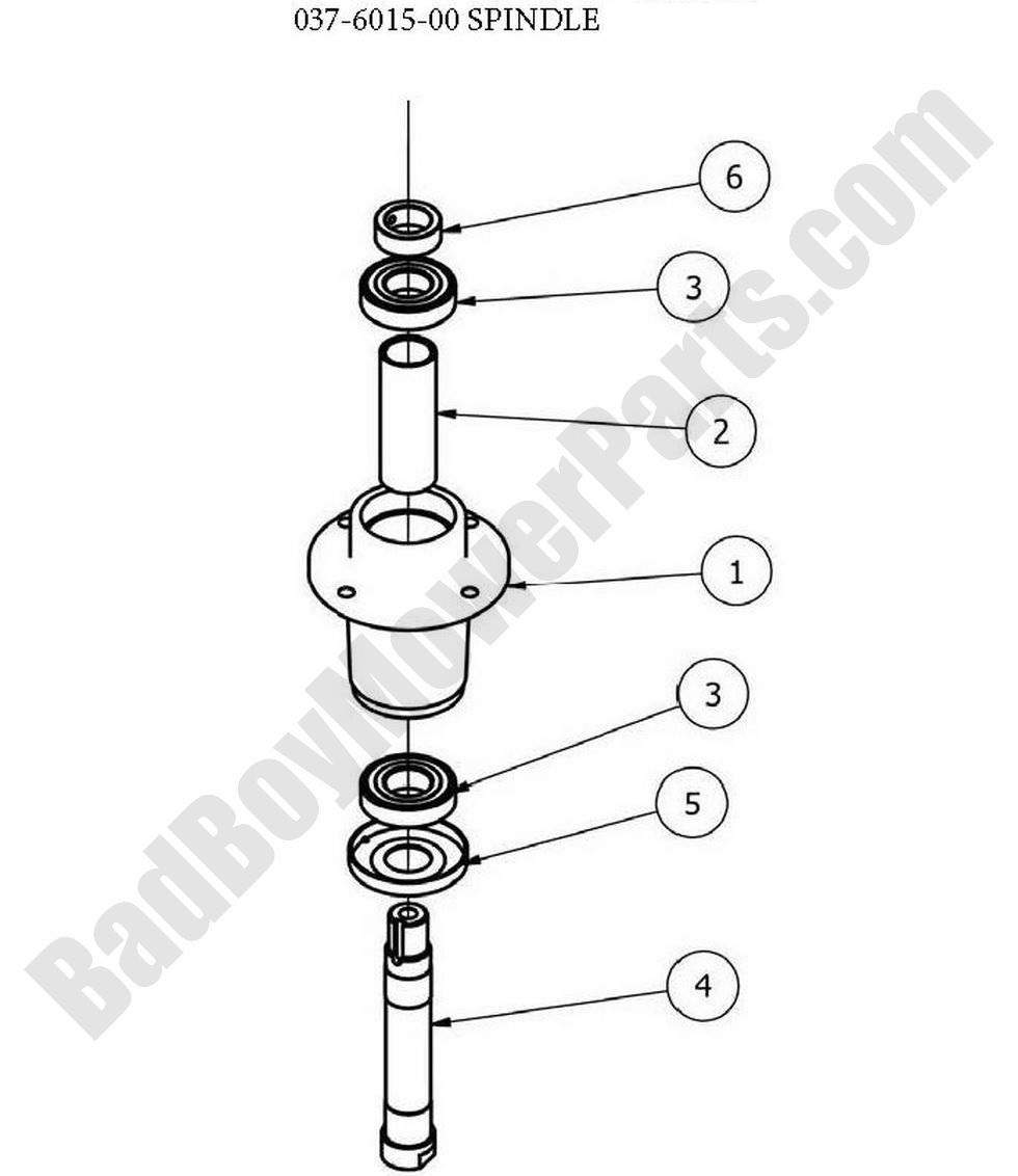 Bad Boy Parts Lookup 2013 CZT Deck Spindle