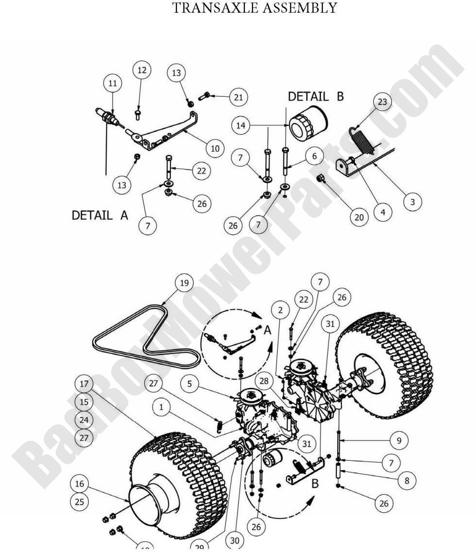 Bad Boy Parts Lookup 2013 CZT Transaxle