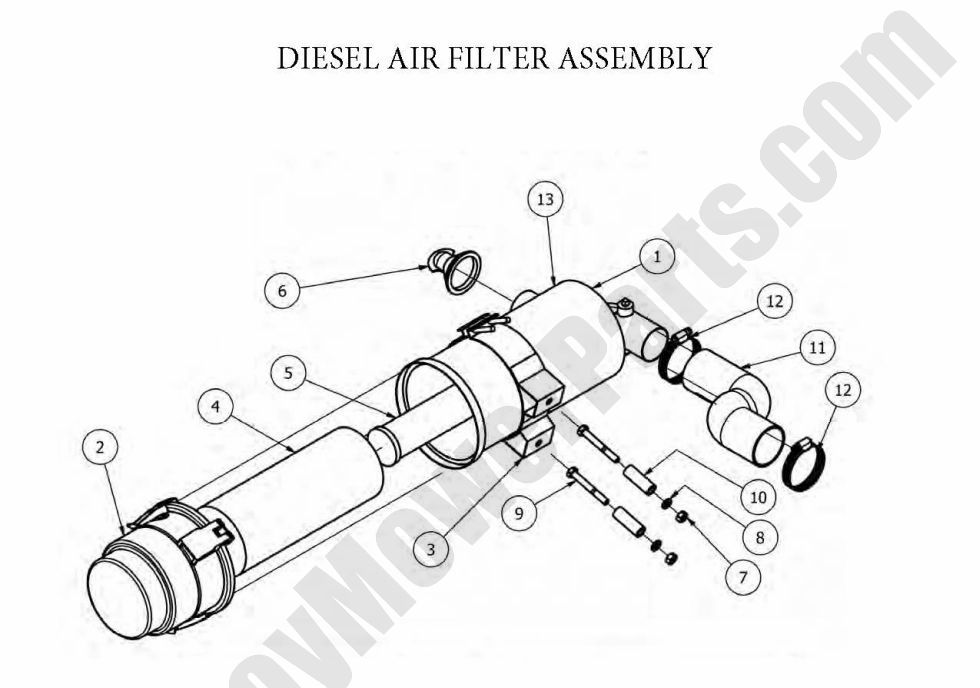 Bad Boy Parts Lookup 2012 Diesels Air Filter Assembly