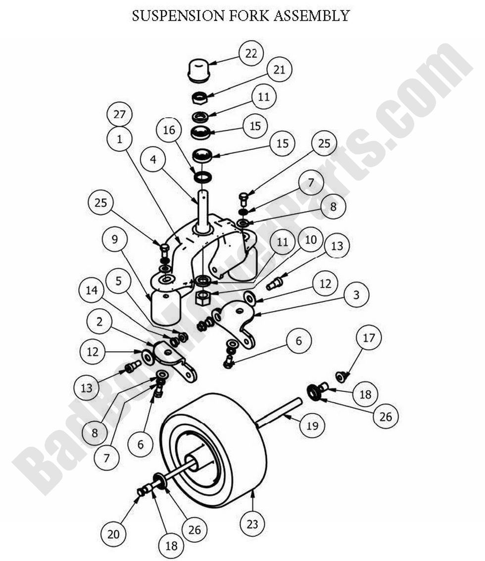Bad Boy Parts Lookup 2013 Diesels Suspension Fork Assembly