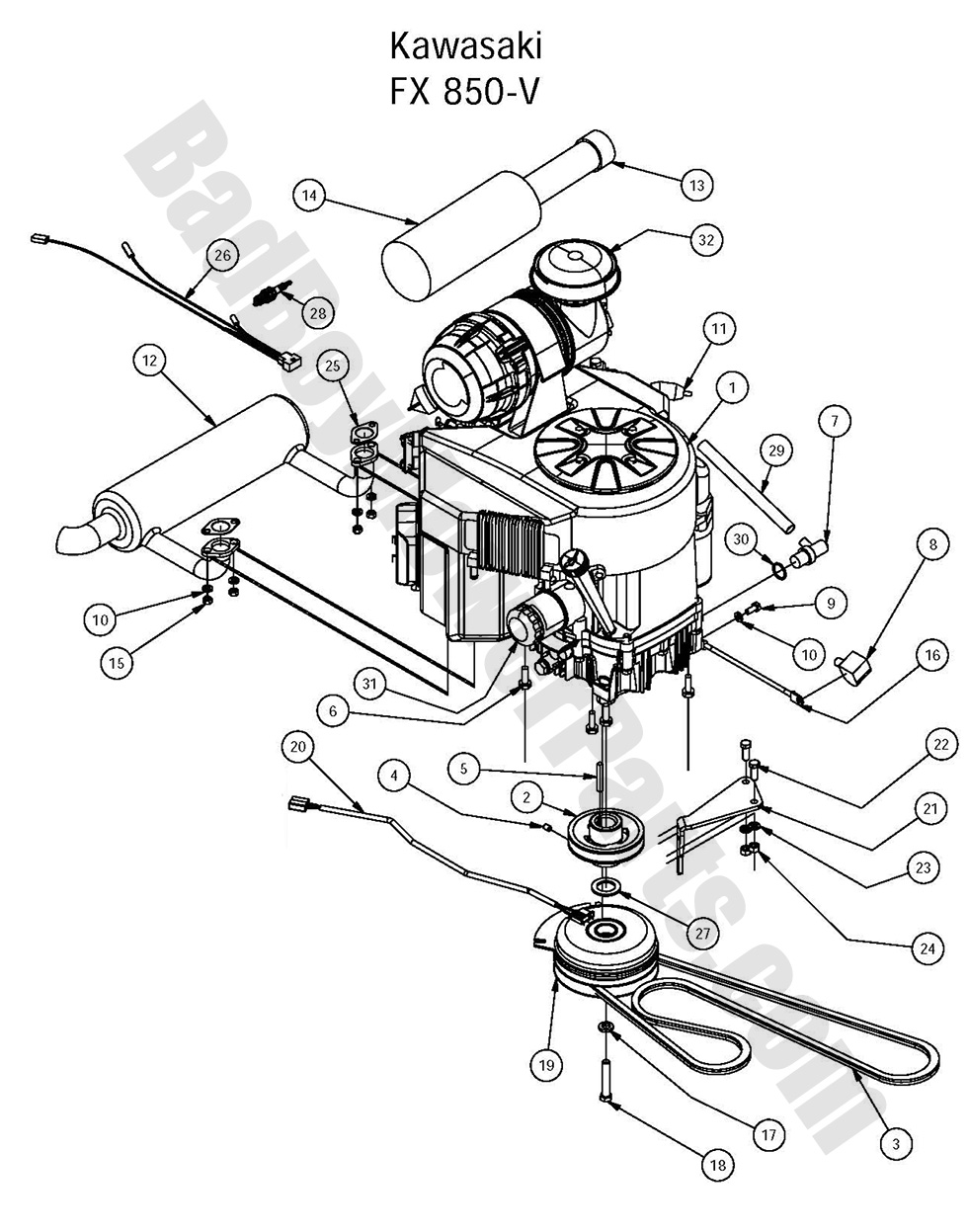 Bad boy mower parts 2016 outlaw outlaw extreme engine bad boy wiring diagram at bad