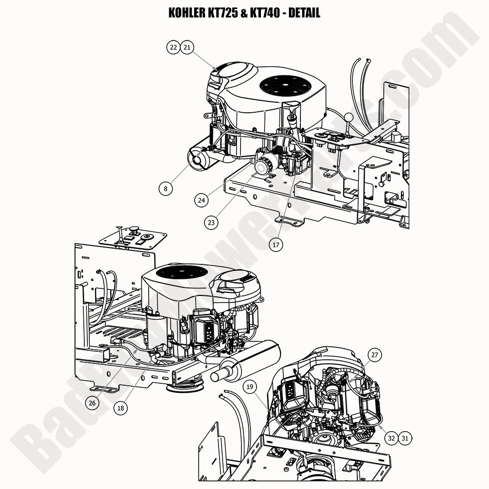 Bad Boy Mower Parts Lookup|2020|MZ & MZ Magnum|Kohler