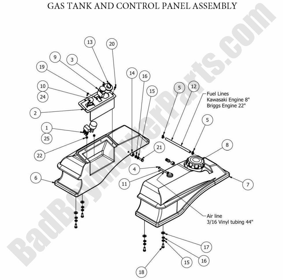 Bad Boy Parts Lookup 2013 MZ Control Panel
