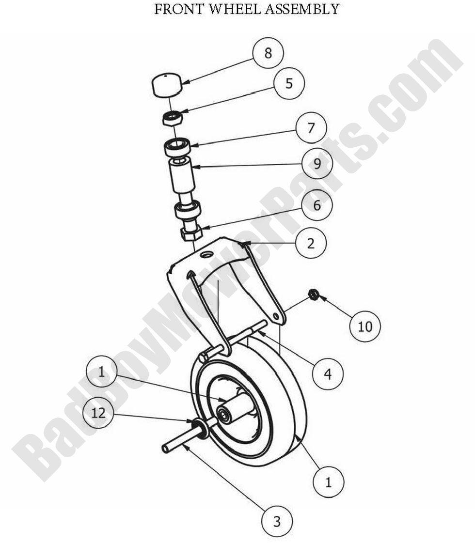 Bad Boy Parts Lookup 2013 MZ Front Wheel Assembly
