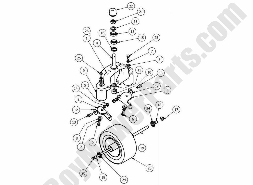 Bad Boy Parts Lookup 2013 Outlaw XP Front Wheel Assembly