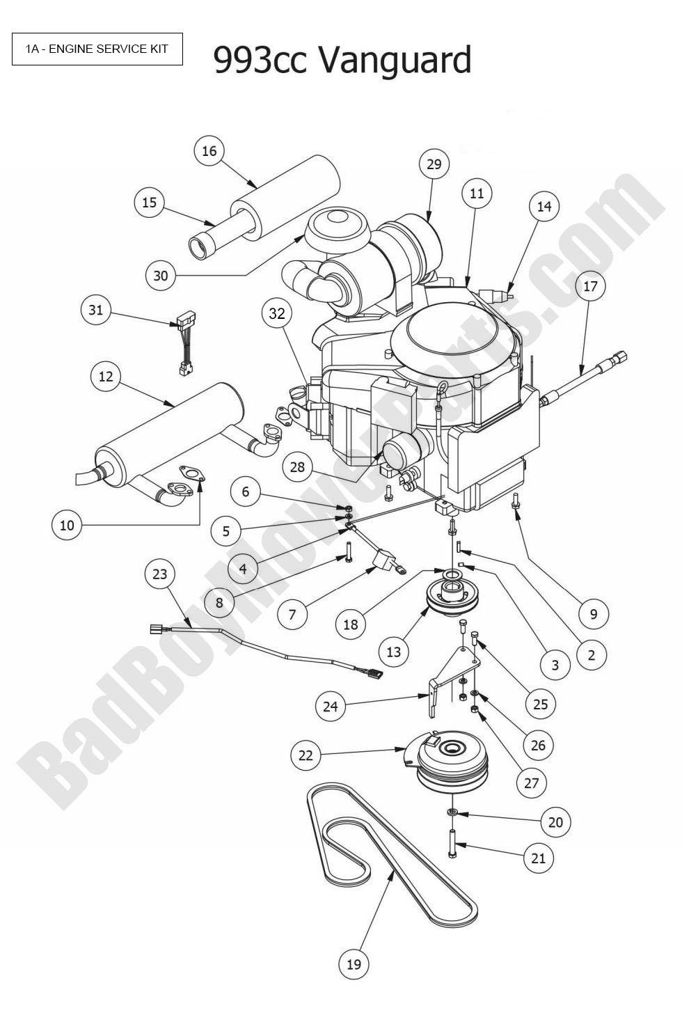 wolo bad boy wiring diagram intertherm horn library 2015 outlaw xp engine vanguard 993cc rh badboymowerparts com air
