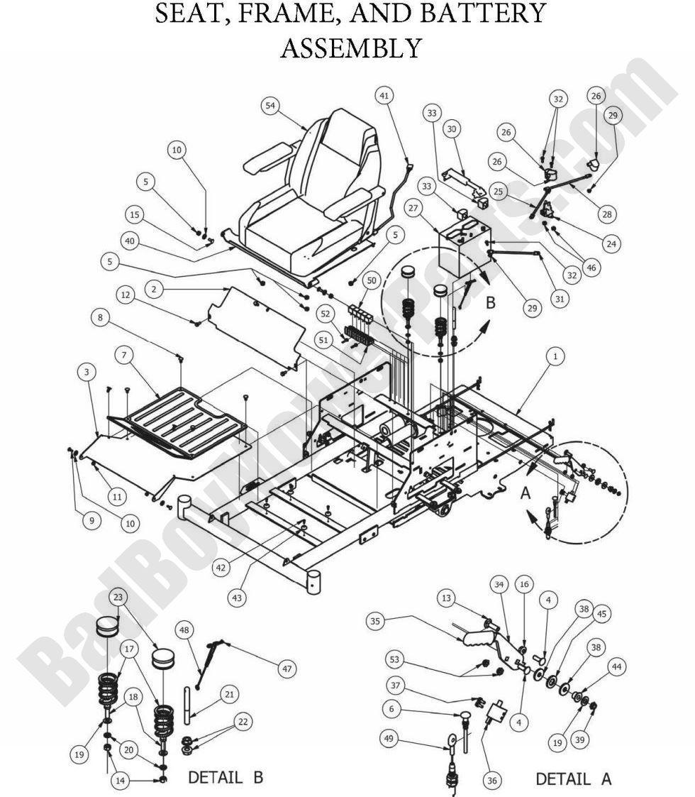 hight resolution of bad boy parts lookup 2013 zt elite seat framebad boy wiring diagrams 17