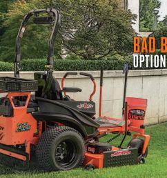 lawn mower accessories for tilling aerating mulching more bad boy mowers [ 1800 x 880 Pixel ]