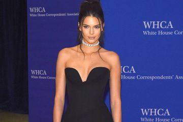 Kendall Jenner black dress for white house