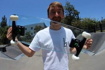 Glass skateboard
