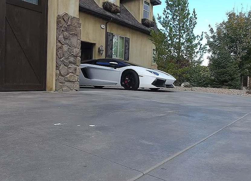 Lamborghini owner picks up homeless man