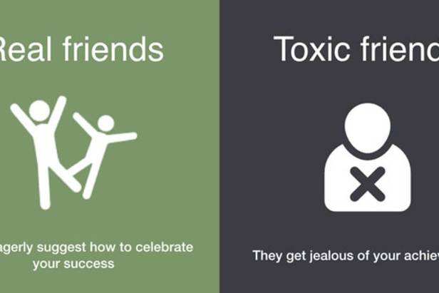 Ways To Differentiate Real Friends And Toxic Friends (9 Photos)