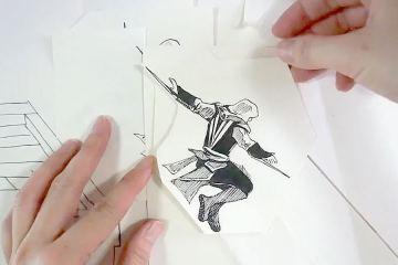 Assassin's Creed Cartoon Paper ArtParkour 1