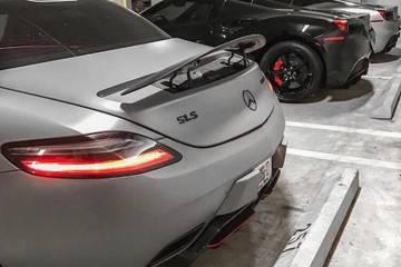super cars mercedes sla and ferraris