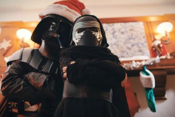 Darth Santa Hang Out With Little Kylo Ren On Christmas Day