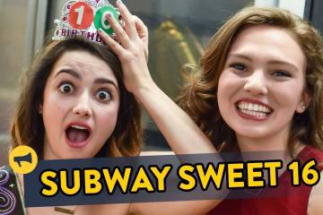A surprise birthday on the train! 1