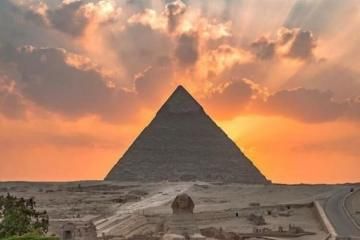 egypte by sunset