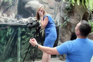Adorable Surprise Proposal