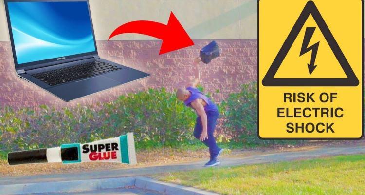 Laptop Bait Prank