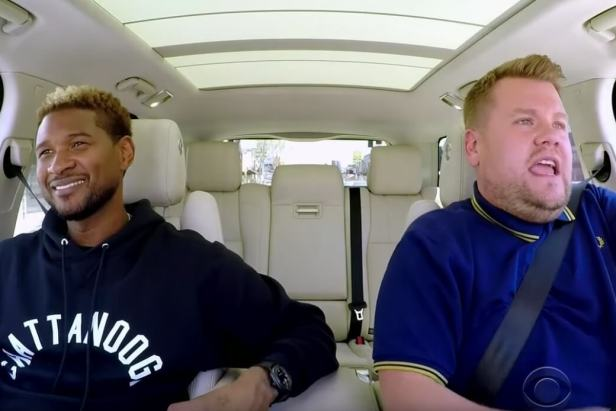 Usher in the carpool karaoke