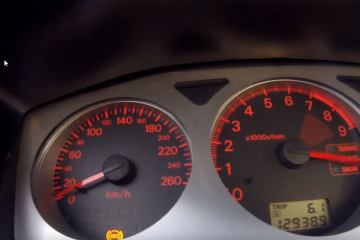 Car engine revving 13.000rpm Going 186.57mph
