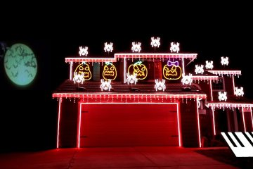 Halloween Light Show 2017 2