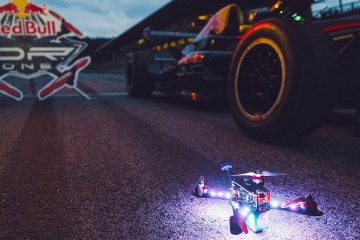 With a Drone at a Formula 1 track? 1