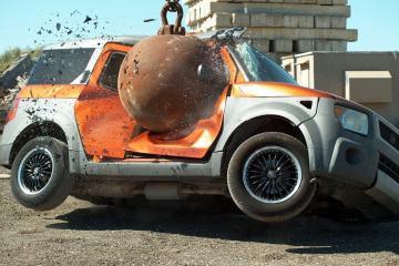 4 Ton Wrecking Ball in Slow Motion 1
