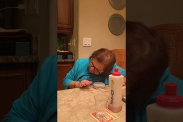 Italian grandmother learning to use Google home 1
