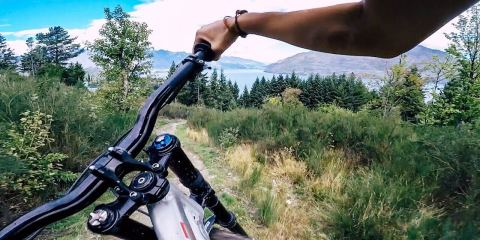 Driving through Ratata (Bike Park Queenstown)