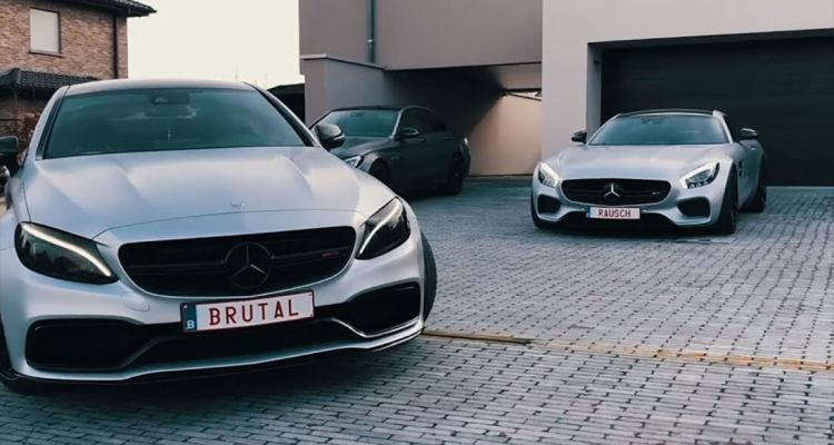 Super Lit Video about an AMG Gang in Belgium 1