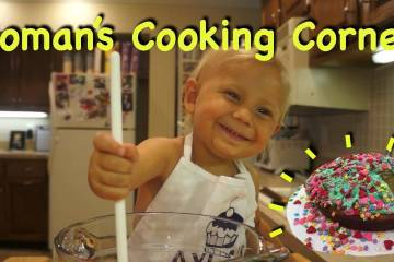 Super Cute 2-year-old Bakes Cake 1