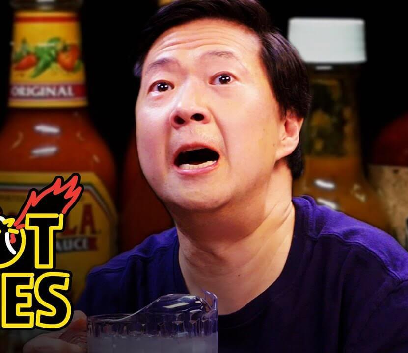 Ken Jeong Eating Spicy Wings 1
