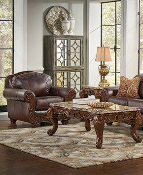 living room furniture table decoration items shop occasional tables badcock more coffee and brown leather
