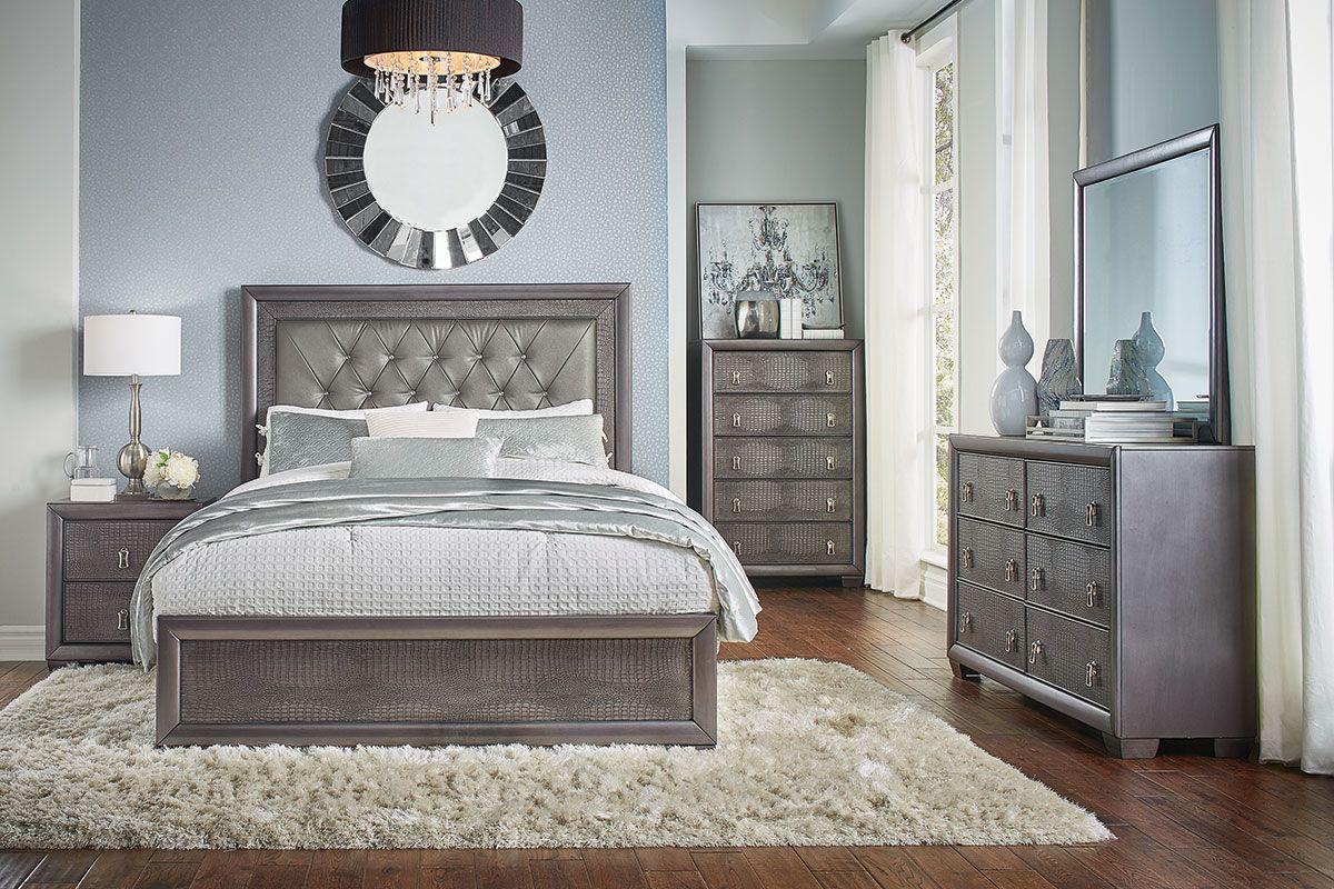 Buy asheville 5 piece bedroom set, queen, gray wood, modern (panel bed, dresser, mirror, chest, 1 nightstand) at walmart.com. Reno 5 Pc Queen Bedroom Group | Badcock Home Furniture &more