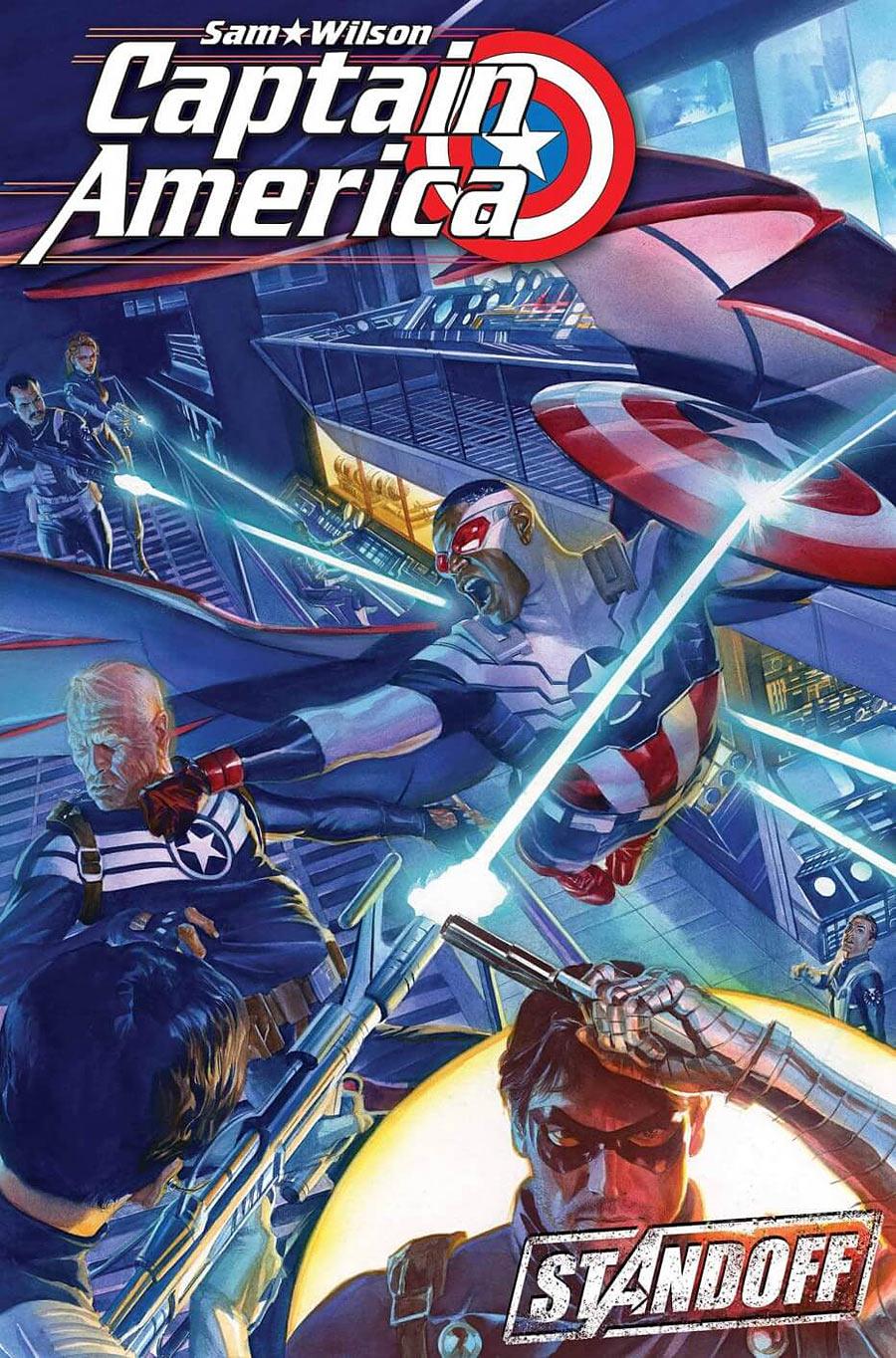Captain America Sam Wilson #7, copertina di Alex Ross
