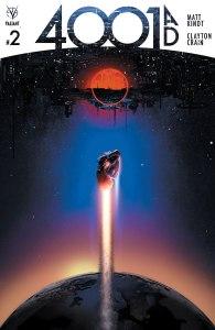 4001 AD #2, copertina di Clayton Crain