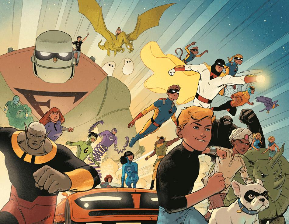 Future Quest #1, copertina di Evan Shaner