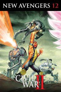 New Avengers #12, copertina di Julian Totino Tedesco
