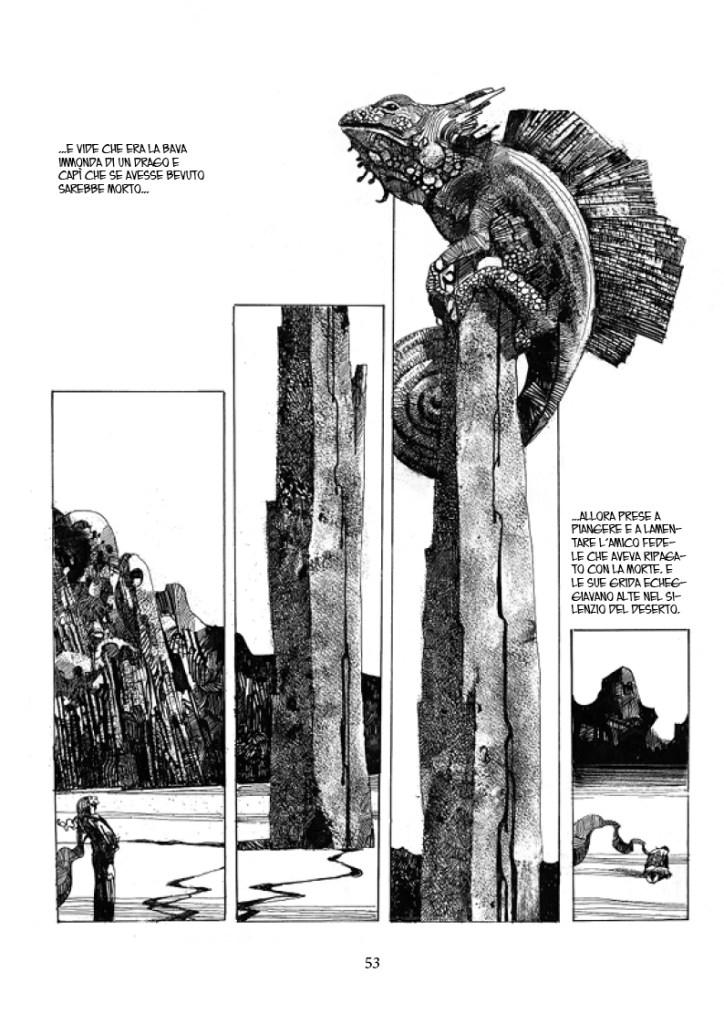 Sharaz-de: Le Mille e una Notte, pag. 53, disegni di Sergio Toppi
