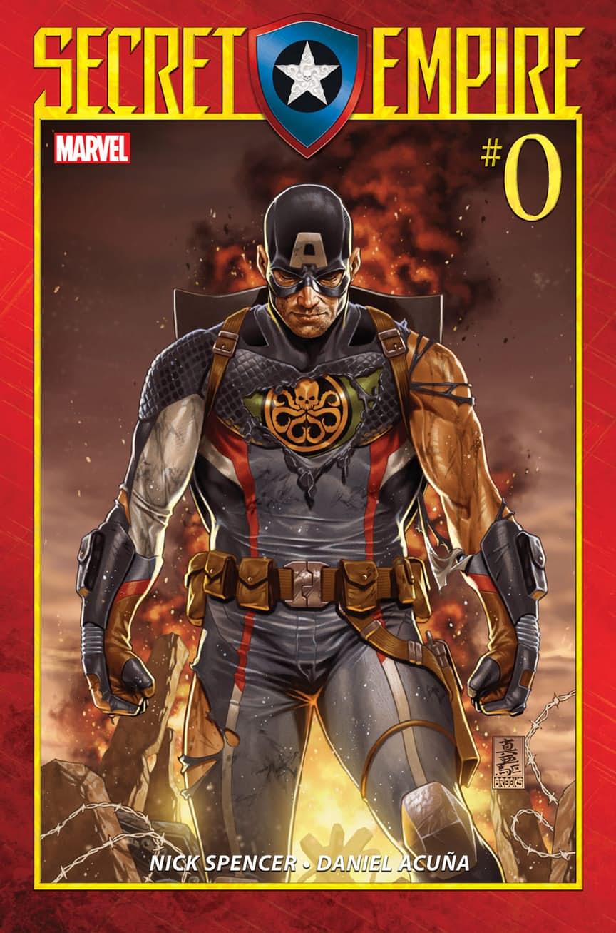 Secret Empire #0, copertina di Mark Brooks