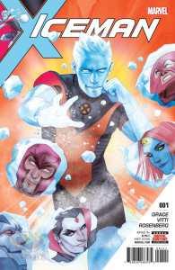 Iceman #1, copertina di Chris Bermudo