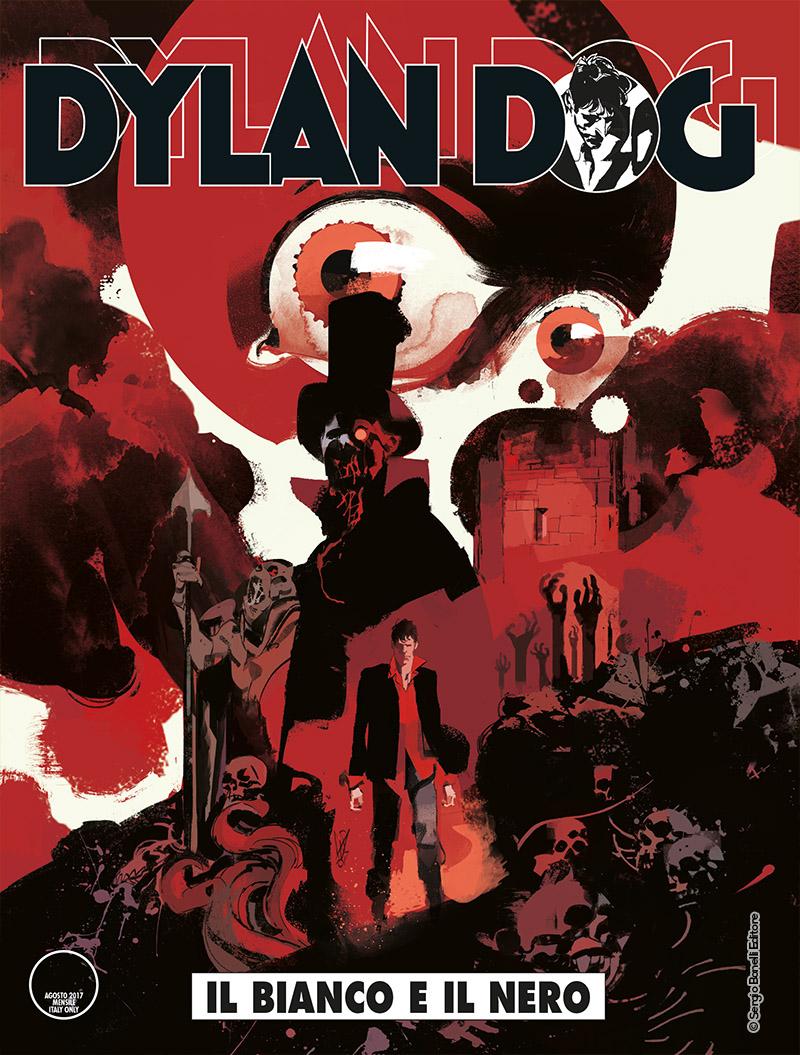 Dylan Dog Color 372: Il bianco e il nero, copertina di Gigi Cavenago