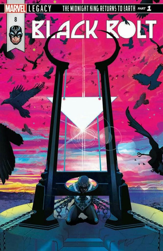Black Bolt #8, copertina di Christian Ward