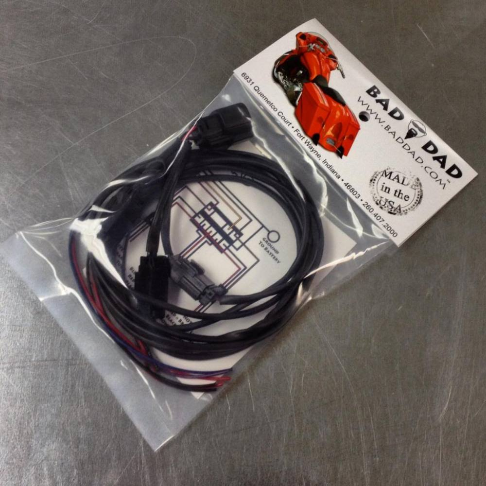 medium resolution of wiring harnesses bad dad custom bagger parts for your bagger 2006 hd road king 2006 road king wiring harness