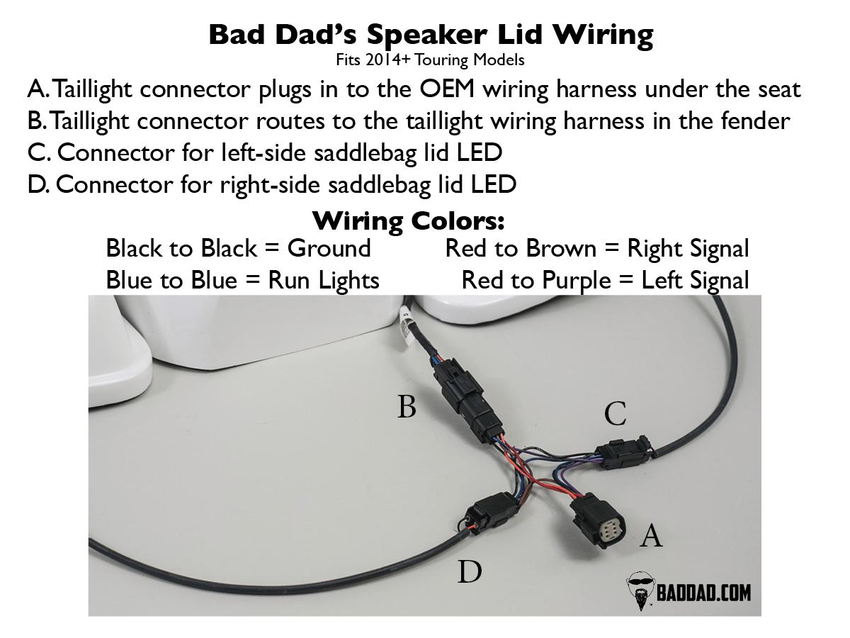 hight resolution of 2014 speaker lids with 5x7 speaker bad dad custom bagger parts rh baddad com harley starter