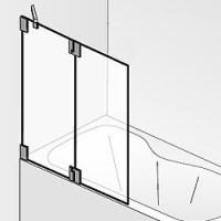 HSK K2 Badewannenaufsatz mit zwei beweglichen Elementen