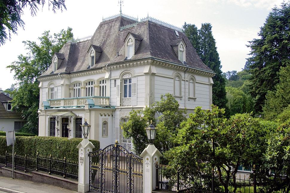 Casa del escritor ruso Turgenev en Baden-Baden.
